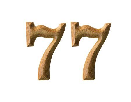 Beautiful wooden numeric isolated on white background Stock Photo - 16724181