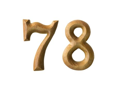Beautiful wooden numeric isolated on white background Stock Photo - 16724184
