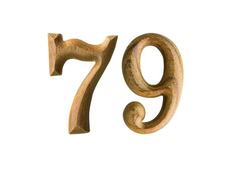 the turn of the year: Beautiful wooden numeric isolated on white background