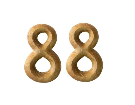 Beautiful wooden numeric isolated on white background Stock Photo - 16724227