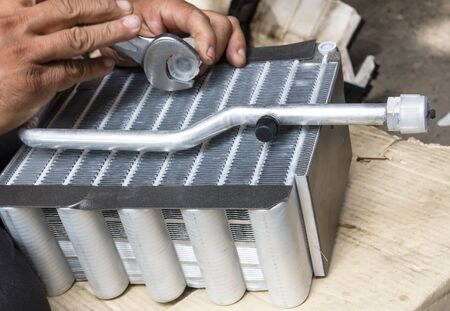 compressed air: Compressed air car components to be repaired