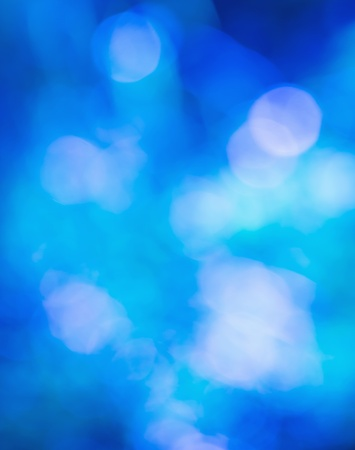 Blurred lights Blue bokeh abstract light background photo