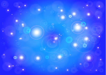 Star with lens flare abstract  Vector star blue background Stock Photo - 20996436