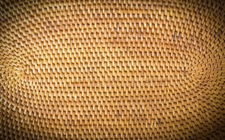 Weave pattern  rattan background Woven rattan with natural patterns are made by handmade photo