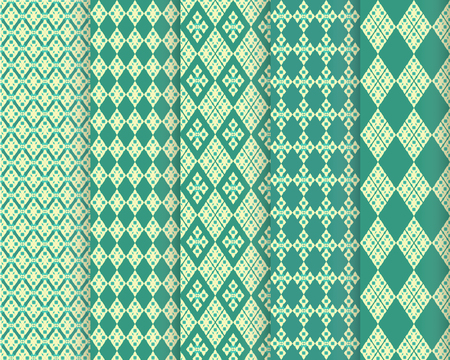 Vector Seamless Patterns set .Used for wallpaper,pattern, fabric, Vector