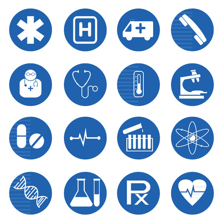 Medical and science icon set.Vector illustration Vector