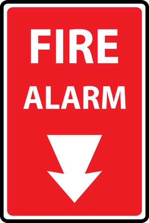 Fire alarm emergency signs and symbols.Vector illustration