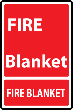 evacuate: Signs of fire blanket  sign. Vector Illustration