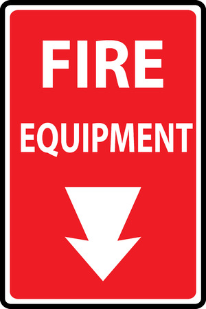 disaster prevention: Signs of Fire equipment signs, Vector illustration Illustration