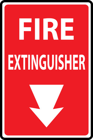 Signs of fire extinguishers sign. Vector Illustration