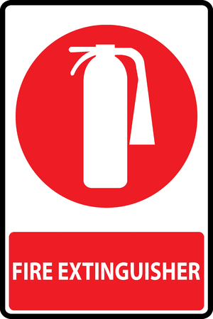 extinguishers: Symbol of fire extinguishers sign. Vector Illustration