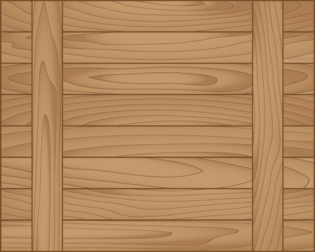 Vector wood plank brown for background, vector illustration Vector