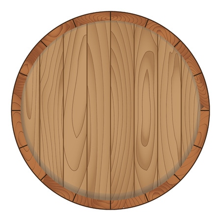 Wooden barrel isolated on white background,Vector illustration