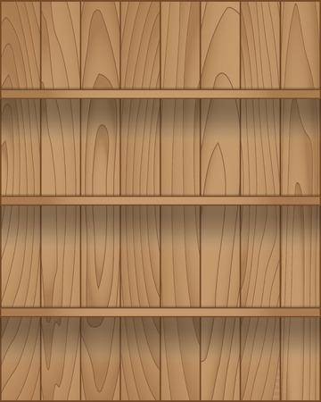 Empty wood shelf modern design, Vector illustration Vector