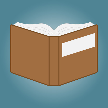 Open book with white pages.Vector Illustration Vector