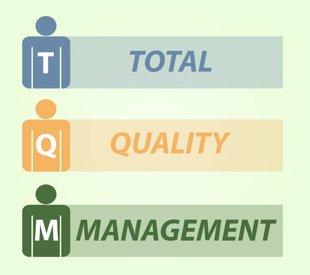 totales: Gesti�n total TQM calidad, el dise�o ilustraci�n vectorial Vectores