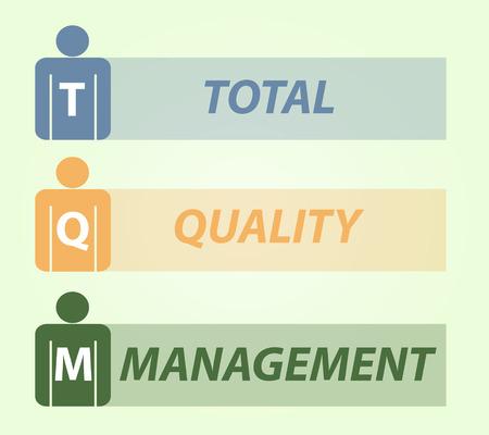 management qualit�: Gestion de la qualit� totale TQM, la conception d'illustration de vecteur Illustration