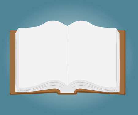 magazine stack: Open book with white pages.Vector Illustration