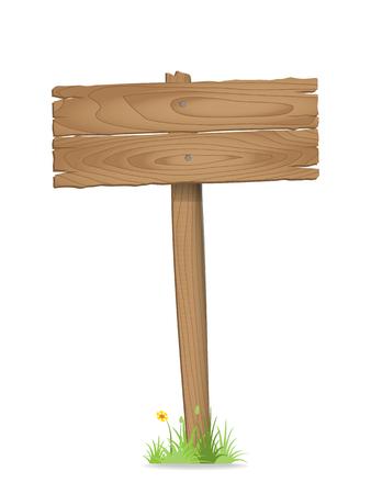 Houten wegwijzer op gras met bloem. Stockfoto - 32959226