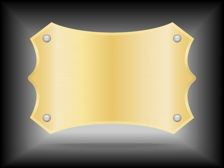 name plate: Metallic gold name plate or Gold label metal