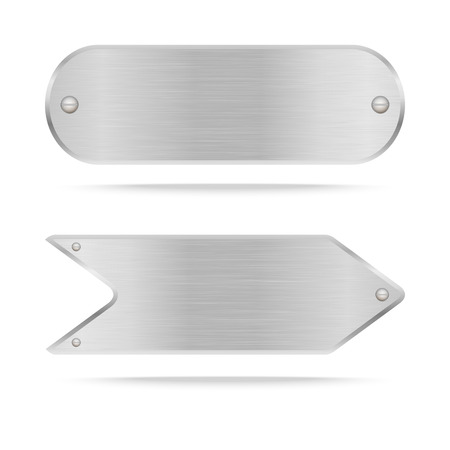 stainless steel: Vector Metal name plate or Metal label with screws.Vector illustration