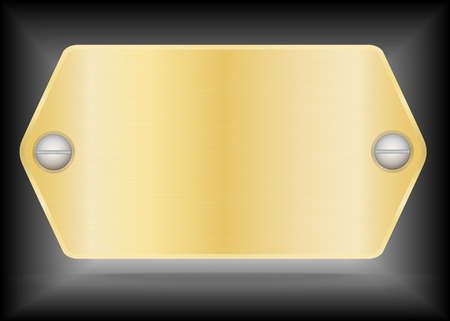 name plate: Vector Metallic gold name plate or Gold label metal.Vector illustration