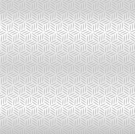 polished floor: Abstract Silver metallic seamless diamond pattern background. Vector illustration