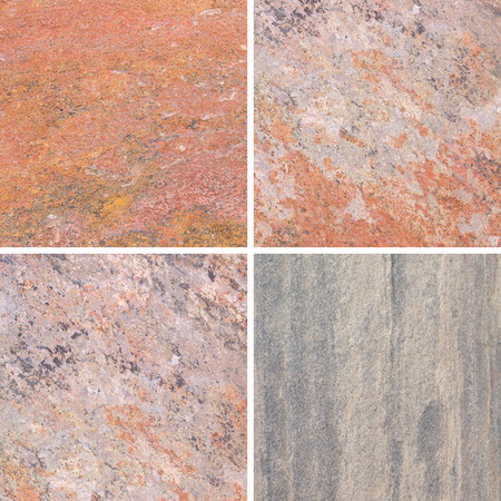 rigidity: The detail texture of stone. Set of textures different stone collection Stock Photo
