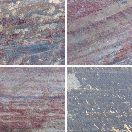 Set of textures different stone background collection Stock Photo