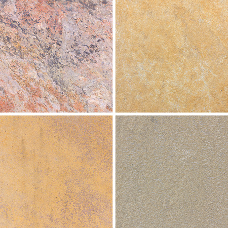 lithic: The detail texture of stone. Set of textures different stone collection Stock Photo