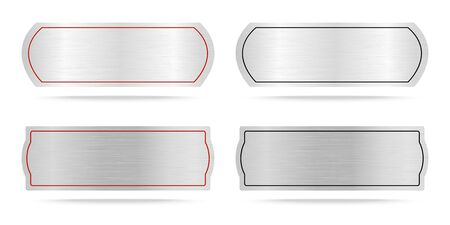name plate: Vector  Metallic labels or Metal name plate