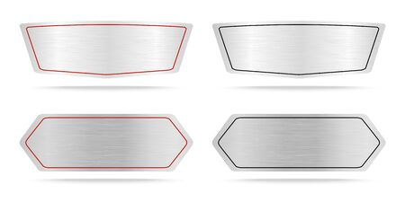 name plate: Vector Metal name plate or Metallic labels .Vector illustration