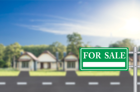 for: Home For Sale with a green for sale sign
