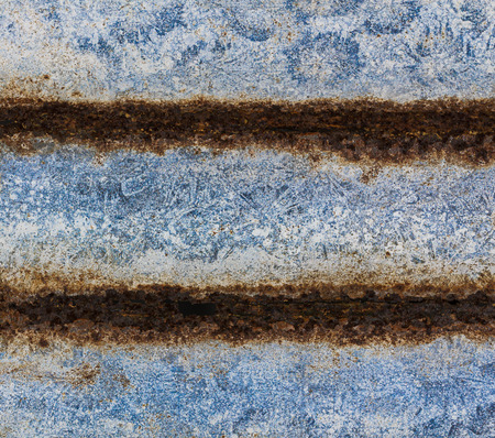 old fence: Old rusty zinc plated, iron zinc background Stock Photo