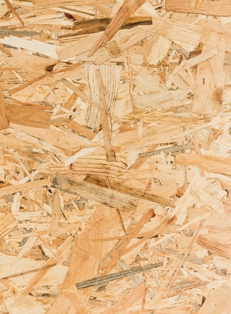 oriented: Close up texture of oriented strand board (OSB), Wood board made from piece of wood