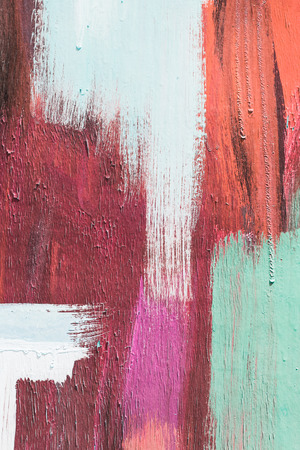 art painting: Hand painting red and white abstract art painting
