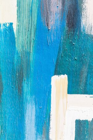 art painting: Hand painting blue and white abstract art painting