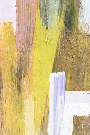 art painting: Hand painting yellow and white abstract art painting