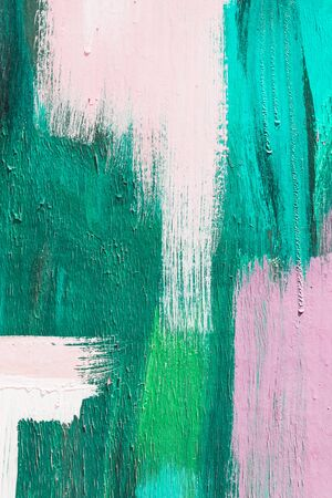 art painting: Hand painting green and white abstract art painting