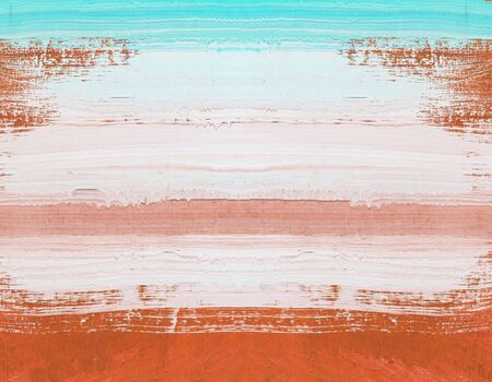 art painting: Abstract art painting ,Hand painted brown and white on wood Stock Photo