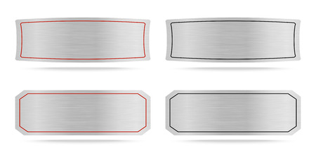 name plate: Vector Metallic name plate or Metal label .Vector illustration Illustration