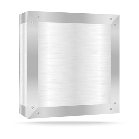 metal box: Vector illustration of Silver metal box on white,Vector illustration Illustration