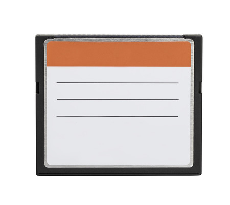 cf: Compact Flash memory cards (CF card) isolate on white background with clipping path Stock Photo