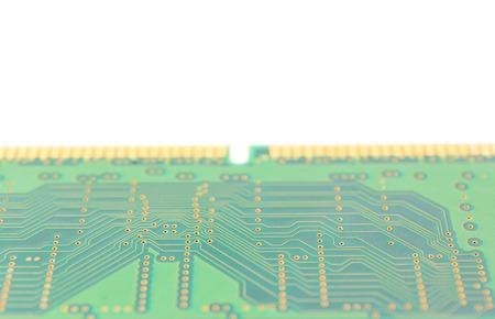 ddr: Close up part of computer memory module ,Random Access Memory (DDR RAM)