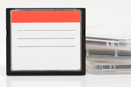 cf: Compact Flash memory cards (CF card) on white background