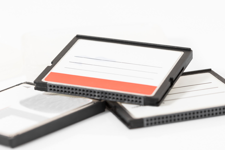 cf: Compact Flash memory cards (CF card) isolate on white background Stock Photo