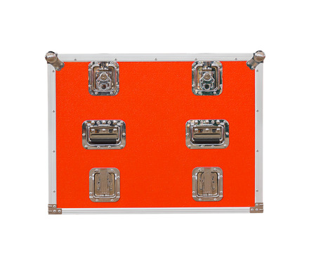 tool cabinet: New red toolbox isolated on white background