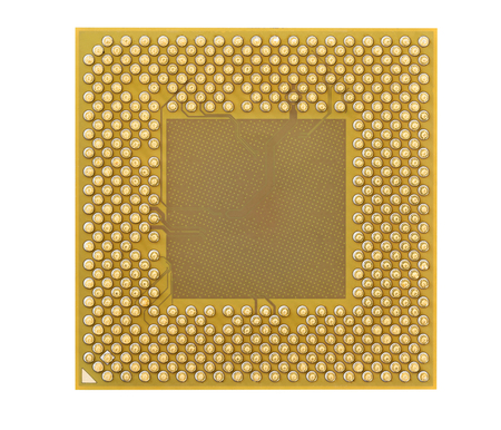 microprocessor: Computer processors or Central processing unit (CPU) isolated on white background Stock Photo