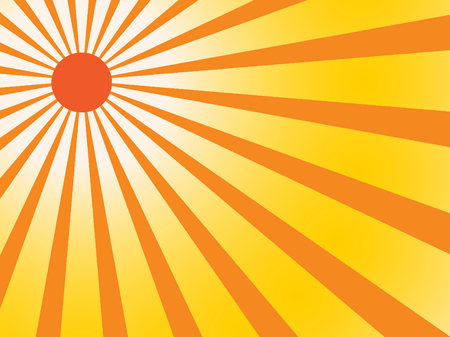 Vector background sunray with orange and yellow retro color