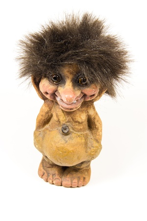 troll dolls: Picture of a statue of a norwegian troll Stock Photo